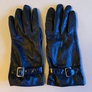 Merona Black Leather Gloves-L/XL